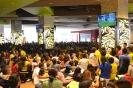 Encuentro deportivo Ecuador Vs. Francia en el patio de comidas del CC. Laguna Mall