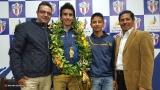 Recibimiento al Campeón Mundial de Escalada Carlos Granja López