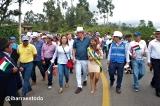 Inauguración de la vía Bola Verde - El Tejar - Santa Rosa - La Esperanza.