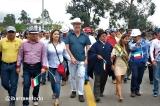La inauguración de la vía Bola Verde - El Tejar - Santa Rosa - La Esperanza.